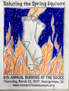 Sixth Annual Burning of the Socks @ South Carolina Maritime Museum | Georgetown | South Carolina | United States