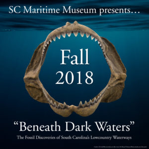 """Beneath Dark Waters"" The Fossil Discoveries of South Carolina's Lowcountry Waterways exhibit @ South Carolina Maritime Museum 